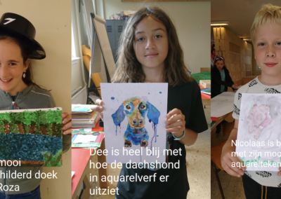 Kunstacademie groep 2: Roza, Dee, Nicolaas