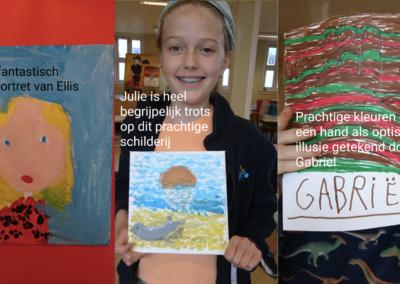 Kunstacademie groep 1: Ellis, Julie, Gabriel